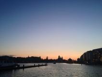 Ausblick über das OSterdok in Amsterdam, in der Nähe vom Bahnhof.
