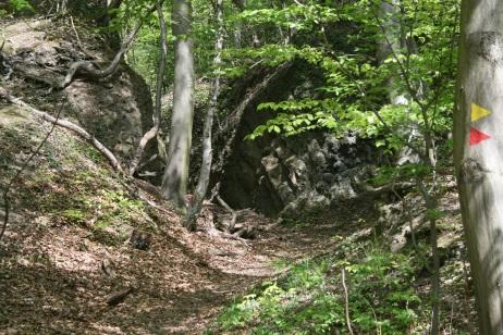 Der Eingang zur Kampf-Arena im Siebengebirge