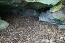 Und das ist die Höhle von innen - ich bin extra reingekrochen. Für zwei Leute wird es schon etwas eng.