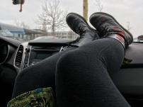 Nickerchen im Auto.