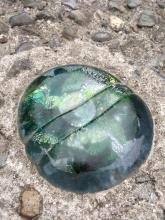 Ein Stück Glas im Fußboden