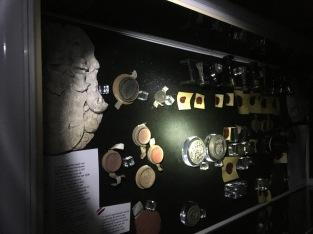 Ein Teil der Ausstellung, die ich auch bei Tag schon mehrfach gesehen hatte.