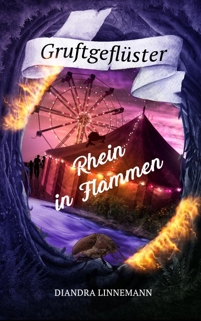 """Coverbild """"Rhein in Flammen"""" von Diandra Linnemann."""