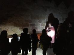Historisch gewandete Burgführer machten aus der Führung ein echtes Erlebnis!